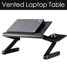 Adjustable Vented Laptop Table Laptop Computer Desk Portable Stand //table/laptop/computer/desk/chairTV/potable/tray/multi-purpose/foldable/ bed table