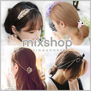 FASHION ACCESSORIES  Hairband choker ring Hair clip  Hair Tie baby headband roller comb earring D