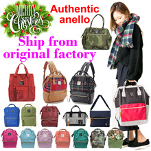 XMAS GIFT*100%AUTHENTIC anello*directly ship out from anello ORIGINAL factory*100% ORIGINAL Japan anello* best quality*hot selling backpack rucksack large capacity daily use unisex unique fashion