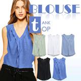 Branded BLOUSE TANK TOP_5 Basic Colors_High Quality_Comfortable Material_Casual look / top / tanktop / pakaian wanita / busana wanita / dress