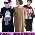 Updated Spring and summer Fashion in the long section T-Shirt Loose Dress Korean version of casual T-shirt Life Dress