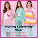 ♥20JuneUpdated♥Nursing and Maternity dress Bra confinement pajamas breastfeeding wear