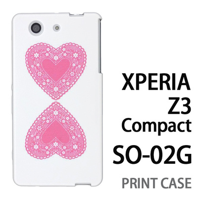 XPERIA Z3 Compact SO-02G 用『0825 ピンクハート』特殊印刷ケース【 xperia z3 compact so-02g so02g SO02G xperiaz3 エクスペリア エクスペリアz3 コンパクト docomo ケース プリント カバー スマホケース スマホカバー】の画像