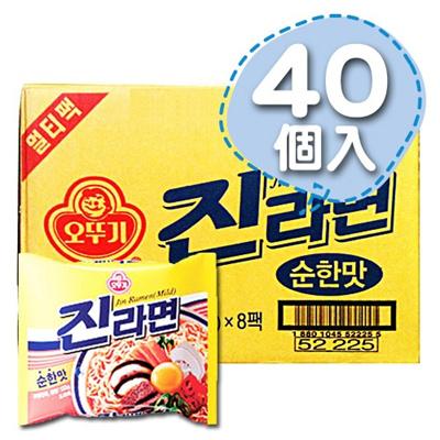 八道韓国食品がお届けする、本場の韓国食品・韓国食材!!■韓国のジンラーメン(辛さ0.5)1Box40個■【韓国食品・韓国食材】の画像