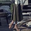 「DINT」 ★送料無料★SK841♥ラグジュアリーオフィスルック♥働く女子のお洒落なオフィススタイル提案!! ラザーフレアフェミニンスカート