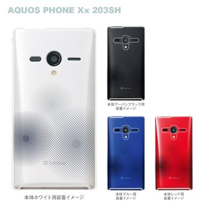 【AQUOS PHONEケース】【203SH】【Soft Bank】【カバー】【スマホケース】【クリアケース】【トランスペアレンツ】【ドット】 06-203sh-ca0021nの画像