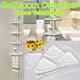 【Bathroom/Kitchen Corner Shelves/Corner Valet /Organizer/ rack/ Holder】ceiling to floor*suitable for height fr 70cm*Extension pole available for high ceiling!