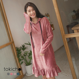 TOKICHOI - Pleated Velvet Dress-172343-Winter