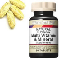 LIFESTYLE(ライフスタイル)マルチビタミン&ミネラル90粒入[タブレット][エープライム](サプリメントMultiVitamin&Mineral)[0715124054005]