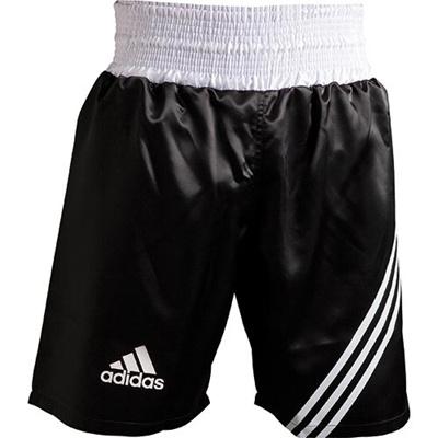 アディダス(adidas) MULTI BOXING SHORT XXS ADISMB02-BW-XXS ブラック/ホワイト XXS 【ボクシング ウェア パンツ 格闘技】の画像