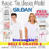 BUY 1 GET 1...Unisexx authentic 100 %- Real Gildan-Kaos Pria-wanita/basic tee tshirt- best seller item