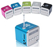 【SaveMore】Portable Mini Music Speaker Radio FM MP3 Player Music Box With Chargable Battery For FM Radio MP3 Player/ Pendrive SD Card USB Output Input Jack Juke Box !