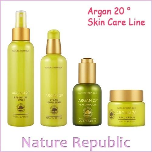 【クリックでお店のこの商品のページへ】[ネイチャーリパブリック]NATUREREPUBLIC Argan 20 ° Skin Care Line / 4 Types / Essential Toner / Steam Emulsion / Real Ampoule