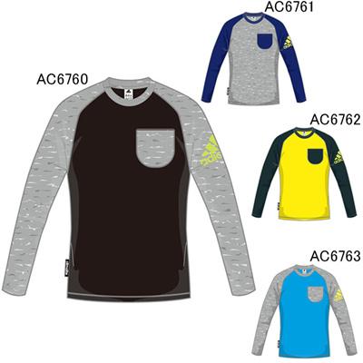 アディダス (adidas) キッズ TCOS SPORTS CLIMA LITE コットングラフィックポケットロングTシャツ BBQ52 [分類:キッズ・子供服 長袖Tシャツ]の画像