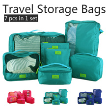 Free Delivery▶Large capacity 7-Piece Travel Storage Bag◀GEA-High-density protective layer/Pouch