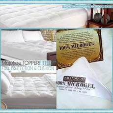 HOTEL MATTRESS TOPPER FITTED | FEELS LIKE GOOSE DOWN - 100% PREMIUM MICROGEL 33Oz ULTRA PLUSH COMFORT and FULL PROTECTION (Lapisan Bantal Matras/Kasur/Bed Top Bulu Angsa Sintetis)