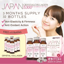 #1 Made in Japan★ITOH Japan CrystalCollagen 5300★2 Months Supply★FREE 6 Bottles + 5 Day ITOCOLLA