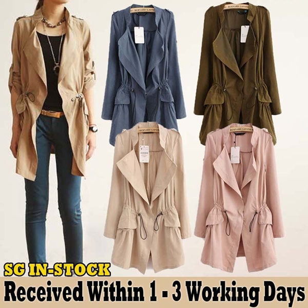 3 Designs 10 Colors Woman Spring Autumn Jacket Cardigan Blazer Windbreaker Deals for only S$59 instead of S$0
