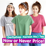 Super Time Sale!! ★darllyshop★  Fast Shipping! Korea Open Market Best Selling Tee