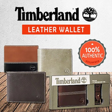 [SG STOCK~ 2 DAYS FREE DELIVERY] TIMBERLAND MENS LEATHER WALLET WITH GIFT BOX
