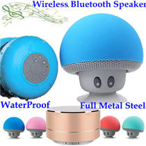 Christmas Gift Portable Subwoofer Shower Sweatproof Waterproof Wireless Sports Bluetooth Speaker Car Handsfree Receive Call Music Suction Phone Mic For iPhone/Earpiece Headset Touchscreen Design