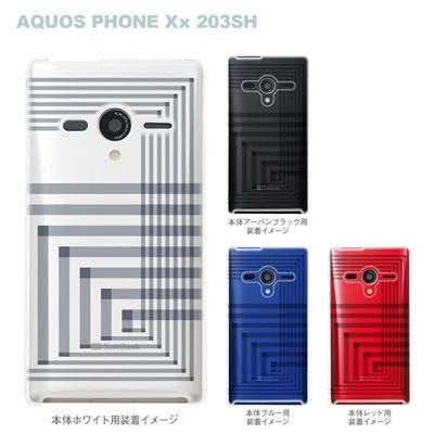 【AQUOS PHONEケース】【203SH】【Soft Bank】【カバー】【スマホケース】【クリアケース】【トランスペアレンツ】【アングル】 06-203sh-ca0021rの画像