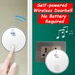 Door bell NO NEED BATTERY /Portable Wireless Remote Control Doorbell/No Need Install Door Alarm Bell