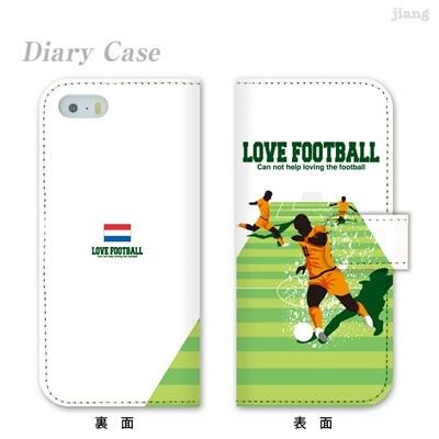 全機種対応 ジアン jiang ダイアリーケース 手帳型 iPhone6 iPhone5s iPhone5c Xperia AQUOS ARROWS GALAXY ケース カバー スマホケース かわいい FUTBOL NINO サッカー オランダ 10-ip5-ds1018-zen 10P06May15の画像