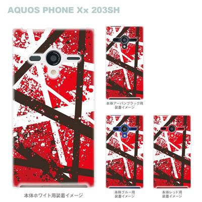 【AQUOS PHONEケース】【203SH】【Soft Bank】【カバー】【スマホケース】【クリアケース】【ミュージック】【ヴァンヘイレン】 08-203sh-an109の画像