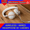 Caeden Wireless Headphone.Clean Line Refined Metal Finishes.40mm drivers / iOS | Android compatible Remote N Mic Cable.Impeccable sound in Truly Classic Headphones. 12 Months Warranty. Local Stocks!