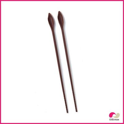【期間限定!100円イベント】【日用品】 flos siliconeシリコンシリコン炒め用箸long chopsticks brown HKS-E025の画像