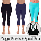 [PROMO BUNDLING BELI CAPRI YOGA GRATIS SPORT BRA] Branded Ladies Yoga Capri_4 Colours_Yoga Pants_Sports Wear_100% Authentic_Super Premium Material_Baju Olahraga