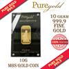 10g Singapore Marina Bay Sands Gold Bar / 999.9 Pure Gold / Singapore Made Gold Bar / Premium Gifts / Collections / Souvenirs