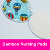 Bamboo Nursing Pads / Reusable / Washable Breast Pads / Waterproof