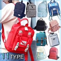 【送料無料】便利で激安リュックバッグお揃いです♪韓国リュック/超人気カジュアルバッグ/韓国ファッション 12タイプ選べる♪~