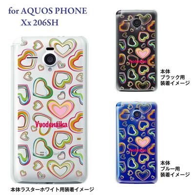 【AQUOS PHONE Xx 206SH】【206sh】【Soft Bank】【カバー】【ケース】【スマホケース】【クリアケース】【Vuodenaika】【フラワー】 21-206sh-ne0004caの画像