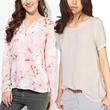 BUY 1 GET 1 FREE-NEW-gradation/vneck women blouse-kemeja wanita bestseller