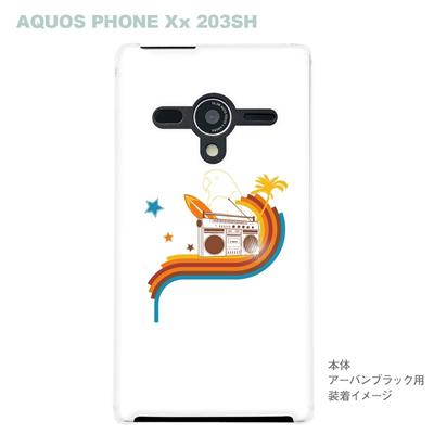 【AQUOS PHONEケース】【203SH】【Soft Bank】【カバー】【スマホケース】【クリアケース】【夏のパラダイス】 08-203sh-ca0074の画像