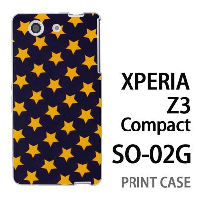 XPERIA Z3 Compact SO-02G 用『0825 星青黄 ドット』特殊印刷ケース【 xperia z3 compact so-02g so02g SO02G xperiaz3 エクスペリア エクスペリアz3 コンパクト docomo ケース プリント カバー スマホケース スマホカバー】の画像