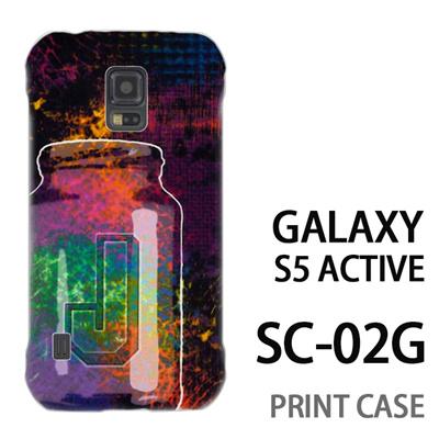 GALAXY S5 Active SC-02G 用『No1 J サイケデリックなビン』特殊印刷ケース【 galaxy s5 active SC-02G sc02g SC02G galaxys5 ギャラクシー ギャラクシーs5 アクティブ docomo ケース プリント カバー スマホケース スマホカバー】の画像