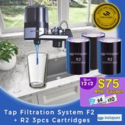【Instapure】Tap Filtration System F2 + R2 3pcs cartridges