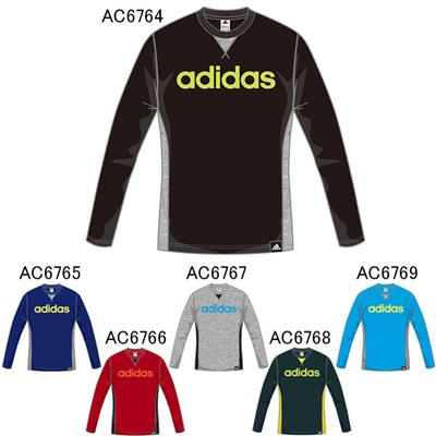 アディダス (adidas) キッズ TCOS SPORTS CLIMA LITE  リニアビッグロゴ コットングラフィックロングTシャツ BBQ53 [分類:キッズ・子供服 長袖Tシャツ]の画像