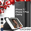 [Christmas Gift] iPhone 7/iPhone 7 Plus Slim Fit PC Soft Flexible TPU Premium PU Leather Card Slot Magnet Closuer Wallet Casing by araree Case Cover