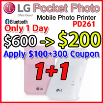 EVENT★ New LG Pocket Photo Printer PD251 PD261 PD269 Portable Mobile Instant Printer for Android iOS