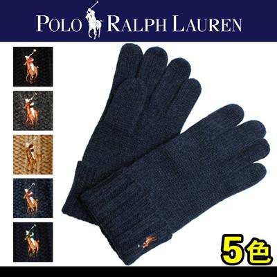 POLO RALPH LAUREN ポロ ラルフ ローレン シグネチャー メリノ グローブ 6F0291 男女兼用の画像