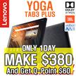 [MAKE $380 n Get QPoint $60!] Lenovo Yoga Tab 3 Plus 32GB 10.1 / YOGA TAB3 PLUS / Your Personal TV