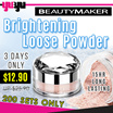 [BEAUTYMAKER]✮Brightening Loose Powder 冰紛淨白水蜜粉✮15 HR Long Lasting✮Control Oil✮Minimize Pore✮