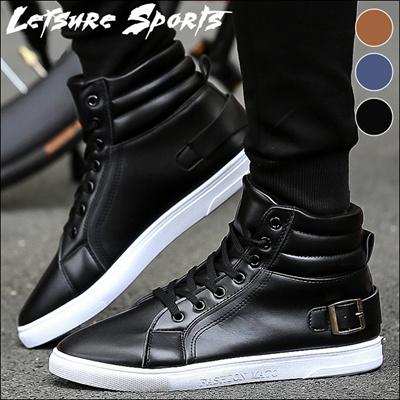 デニム インヒールスニーカー ショットブーツ 靴 シューズ メンズハイカットスニーカー スニーカー ショートブーツ 大人カジュアルシューズ 韓国ファッション