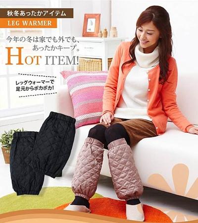 【送料無料】アルミシート保温レッグウォーマー☆底冷えで冷えやすいひざ下から足首を体熱でじんわり温かく包み込みます☆調節ボタン付だから、ルームウェアやパジャマの上からでもゆったり着用可能☆の画像