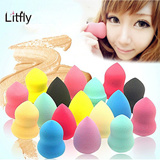 ▶3 for Free Shipping!【M18】[LITFLY] Ladies' powder puff/ authentic Litfly puff sponge/ gourd or droplets shape/ select cotton / makeup sponge puff